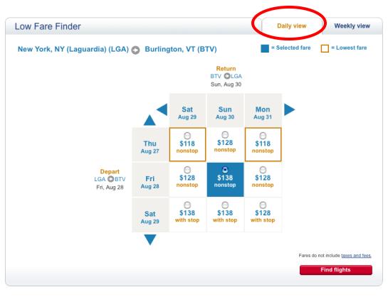low fare finder flexible dates