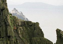 Scaling the steps of Skellig Michael, Ireland (Photo: Josh Roberts)