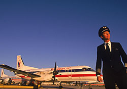 American Eagle plane with pilot (Photo: IndexOpen)