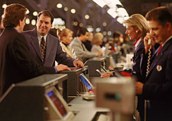 At the airport check-in counter (Photo: Stewart Cohen/IndexOpen)