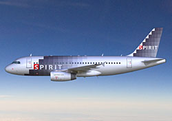 Artist's rendering of Spirit airplane (Credit: Spirit Airlines)