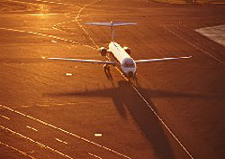 Airplane on runway (Photo: C. Borland/PhotoLink)