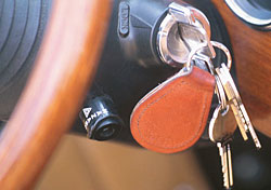 Keys in ignition