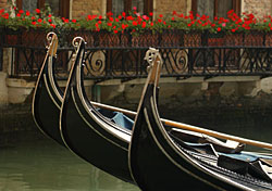 Gondolas in a side street canal, Venice, Italy (Photo: IndexOpen)