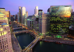 Chicago River at dusk (Photo: City of Chicago/Peter J. Schulz)