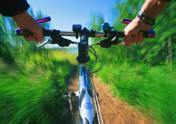 Cyclist's view of bike trail (Photo: Index Open)