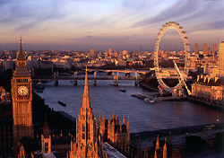 View from the top of the Victoria Tower, the lesser known of the two towers of the Houses of Parliament, towards Big Ben, the River Thames and the London Eye  (Photo: britainonview/McCormick-McAdam)