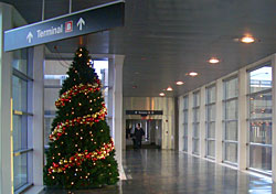 Christmas at Boston's Logan airport (Photo: Massachusetts Port Authority)