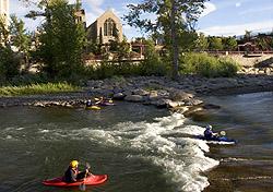 Kayakers at Reno's Truckee River Whitewater Park (Photo: Matt Theilen/RSCVA)