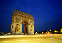Arc de Triomphe at Night (Photo: Skip Nall)