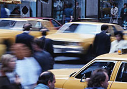 Taxis in New York City (Photo: Kent Knudson/PhotoLink)