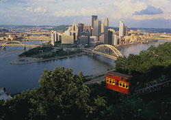 Pittsburgh skyline (Photo: Jeff Hixon, Commonwealth Media Services 1996)