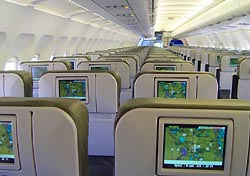 Seat-back TVs featuring 36 channels of DIRECTV on JetBlue's Airbus A320s (Photo: JetBlue)