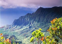 Views of the Kalalau Valley on Kauai, Hawaii (Photo: Ron Dahlquist, Hawaii Visitors & Convention Bureau)