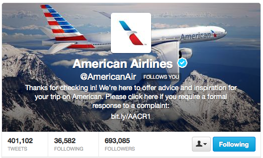 Can't get on satisfaction from the airlines? Complain! (In 140 characters or less.)