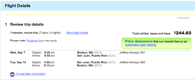 airline tickets to puerto rico