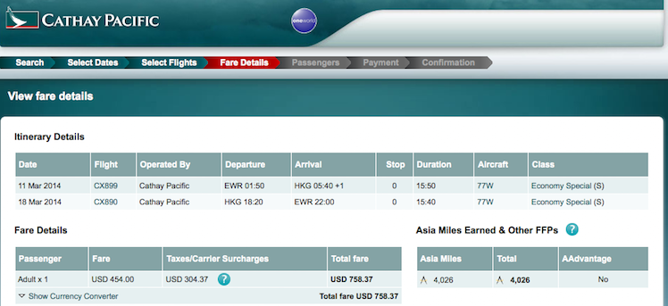 Cathay Pacific Sale: Newark to Hong Kong $759 round-trip, nonstop