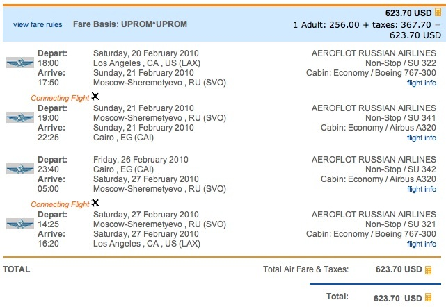 Check out the other Aeroflot fares listed on our JFK and LAX pages.