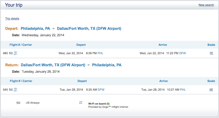American airlines flexible dates