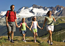 Family hiking at Whistler Blackcomb (Photo: Paul Morrison)