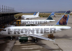 Frontier planes at the airport (Photo: Airbus S.A.S. )