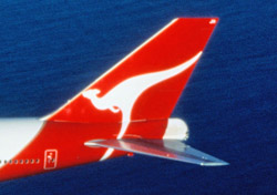 Qantas aircraft tail close up (Photo: Qantas)