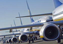 Ryanair jets lined up on the runway (Photo: Airbus S.A.S. )