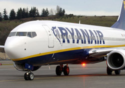 Ryanair aircraft close up (Photo: Ryanair)