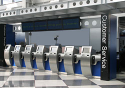 Self-service kiosks at airport (Photo: iStockphoto.com)
