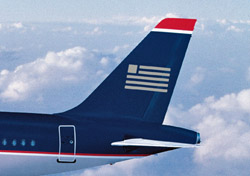 US Airways aircraft tail close up (Photo: US Airways)