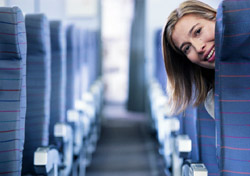 Woman on empty plane (Photo: Index Open)