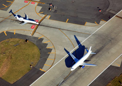 Aerial view of airport runway (Photo: iStockPhoto.com/Jeremy Edwards)