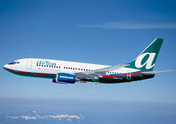 AirTran Airways' Boeing 737-700 (Photo courtesy of AirTran)