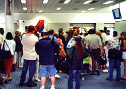 Crowded boarding area (Photo: iStockphoto/Ernest Campbell)