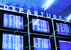 Departure screens in blue (Photo: Index Open)