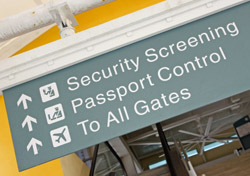 Airport: Security Screening Sign (Photo: iStockphoto/Lya Cattel)