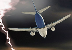 Air: Lightning and Plane (Photo: Shutterstock/Vibrant Image Studio)