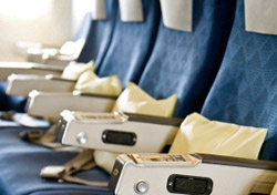 Pillows on airplane seats (Photo: iStockPhoto/Yu-Feng Chen)