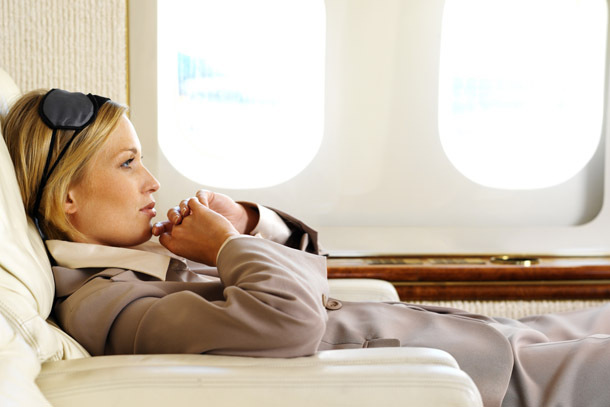 Air: Reclining Female Passenger (Photo: Thinkstock/Stockbyte)