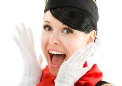 Air: Shocked Flight Attendant (Photo: Thinkstock/iStockphoto)