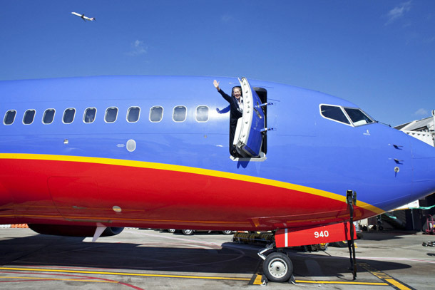 Southwest: Open Door on Runway (Photo: Southwest Airlines/Stephen M. Keller)