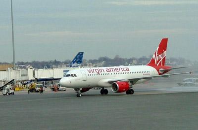 Virgin America - Aircraft at Boston Logan Airport