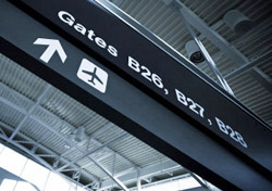 Airport Departure Gate Sign (Photo: iStockphoto/Halbergman)