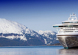 Cruise Ship Docked Near Glacier in Alaska (Photo: Shutterstock.com)