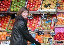 Anne Steves in Paris Market. Paris is always in season. (Photo: Rick Steves)