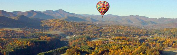 Asheville, North Carolina - Hot Air Balloon (Photo Credit: Asheville Convention & Visitors Bureau)