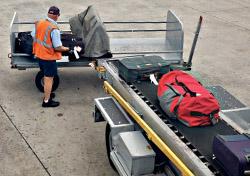 Handler unloading baggage (Photo: iStockphoto/Stas Volik)