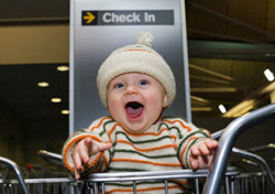 Baby at the airport (Photo: Duncan Babbage/iStockphoto)
