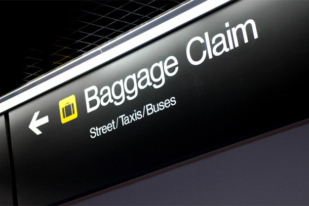 Baggage Claim Sign (Photo: Thinkstock/iStockphoto)