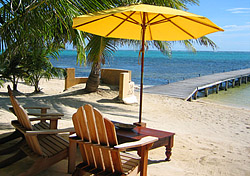 San Pedro on Ambergris Caye is one of Belize's most popular vacation destinations. Even if you don't stay at a luxury property on the island, you can still visit for lunch or dinner and soak up the sun and atmosphere. For instance, Mata Chica Beach Resort welcomes non-guests at its oceanfront bar, open-air restaurant, and spa; and Rojo Lounge at the Azul resort serves up conch-shell pizzas, grilled lobster salad, some of Belize's best ice cream, and a host of other dishes at lunch and dinner daily.   (Photo: Christine Sarkis)